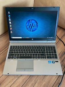 "HP 8560p 15.6"" Laptop Computer Core i7 2720QM 2.2GHZ/ 8GB RAM/ 500GB HDD 10 Pro"