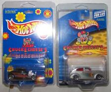 Hot Wheels Chuck E. Cheese's 32 Ford coupe &  Fat Fendered  in Plastic Protector
