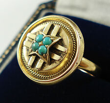 Antique 9ct Gold Turquoise Ring.