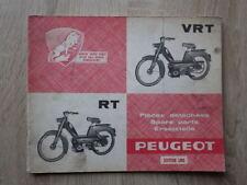 CATALOGUE PIÈCES DÉTACHÉES CYCLOMOTEUR PEUGEOT RT VRT 1966 Spare Parts