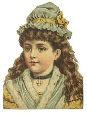Die Cut Read's Grand Duchess Lovely Woman Hat Necklace Victorian Scrap Card