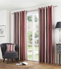 Rideaux et cantonnières rouge à motif Rayé polyester pour la maison
