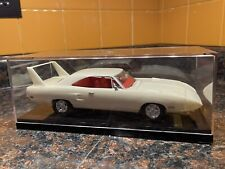 White 1970 Plymouth Super Bird 1:25 Model Kit Adult Built With Display Case