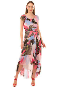 RRP€3260 PHILOSOPHY DI LORENZO SERAFINI Silk FLounce Dress Size 42 / M Ruffled