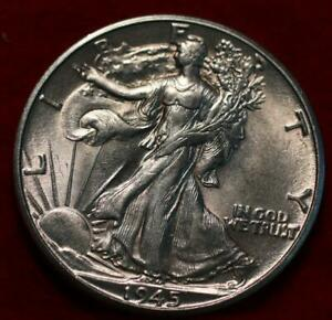 Uncirculated 1945-D Denver Mint Silver Walking Liberty Half