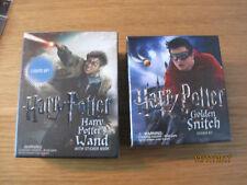 NEW in box Harry Potter Wand w sticker book & Golden Snitch sticker kit Replicas