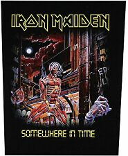 XLG Iron Maiden Somewhere In Time Rock Music Woven Back Jacket Patch Applique