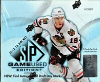 1-2012-13 UPPER DECK SP GAME USED EDITION NHL HOBBY BOX 5 HITS PER BOX