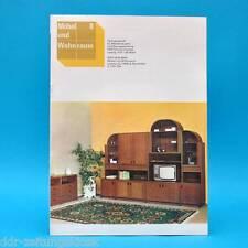 DDR Möbel und Wohnraum 8/1989 Holzindustrie Halberstadt Wohnprogramm Falkensee