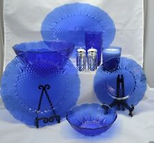 ELEGANT ROYAL SAPPHIRE GLASS COLLECTION~Avon Complete Set Of (36) ALL NIB MINT