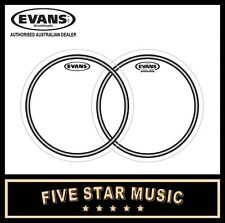 "EVANS 2 PCE TOM DRUM SKIN SET WITH ECS2 AND ECR CLEAR 14"" DRUM HEADS"