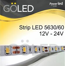 Striscia Flessibile Strip LED 5630 300 LED tot. 12V - 24V 1200 Lumen/mt