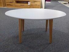 Beistelltisch Couchtisch Oval aus Tischlerei - Design Tisch weis lackiert NEU