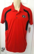 GEORGIA BULLDOGS Mens Polo Shirt Size Small 34/36 Golf Embroidered Logo Red New
