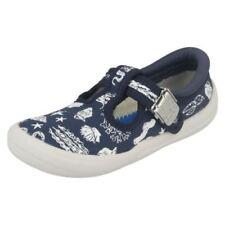 Scarpe in tela blu con fibbia per bambini dai 2 ai 16 anni