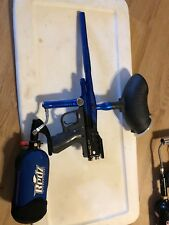 Piranha eforce and spyder TI paintball gun lot with suit and accessories