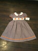 Marmellata NWT Girl's Smocked Pumpkin Dress Size 6