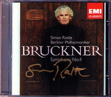 Simon RATTLE Signiert BRUCKNER Symphony No.4 Romantic CD Berliner Philharmoniker