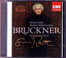 Simon RATTLE Signiert BRUCKNER Symphony No.4 Romantic CD Berliner Philharmoniker