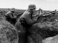 WW2 Photo WWII German Wehrmacht Soldiers in Trench  World War Two Germany / 2517