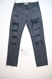 Levis 511 slim nero (Cod.H668) Tg.48 W34 L34 boyfriend jeans usato