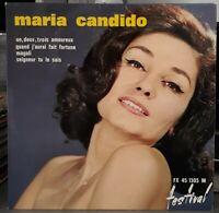 """Rare EP - Maria Candido - """"Un, Deux, Trois Amoureux"""" or.fr 1962 - Comme Neuf !"""