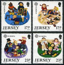 Jersey 511-514, MI 476-479, MNH.EUROPA CEPT. Children's Games, 1989