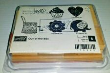 "STAMPIN' UP!   ""Out of the Box""  Cupcake Elephant Heart Pop Up Box  6 Stamps NEW"