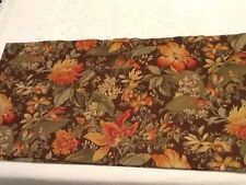 Curtain Valance Chapel Hill Designs Brown Green Rust Floral