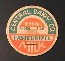Central Dairy Co. - Milk Bottle Cap - Hammond