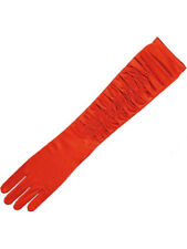 Adult Ladies Red Long Evening 1920s Gloves Burlesque Fancy Dress Accessory