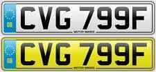 Cherished NUMBER PLATE-CVG 799F-CV CVG 1968 Norwich Norfolk SCOOTER VESPA NO