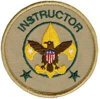 BSA Boy Scout of America Official Licensed Instructor Position Patch BSA New