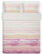 IKEA Alpdraba Duvet Cover & 2 Pillowcases Pink Stripe Full/Queen 004.604.93