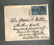 1889 London England Cover to Cambridge MA USA
