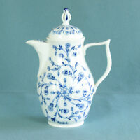 Royal Tettau Königsblau Echt Kobalt Unterglasur Kaffeekanne RAR Porzellan