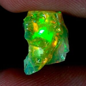 02.35cts.NATURAL WONDERFUL MULTI SHINING ETHIOPIAN OPAL ROUGH GEMSTONE
