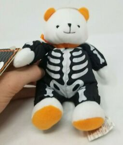 "Little Brandon Bear Glow in the Dark Skeleton Costume Hallmark with all tags 8"""