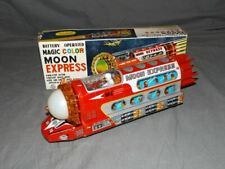 VINTAGE~TIN LITHO~MAGIC COLOR~MOON EXPRESS / SPACE TRAIN~EARLY 1970'S~TAIWAN~MIB