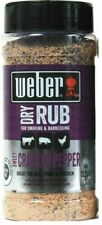 Weber Dry Rub Sweet Cracked Pepper Great For Smoking & Barbecuing 12.25 Oz