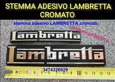 Stemma SCUDETTO etichetta Adesivo Lambretta Innocenti cromato Portachiavi