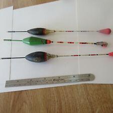 "FISHING  2  BOBBERS / FLOAT  VINTAGE  8½"" WOOD  BLACK AND GREEN  BONUS"