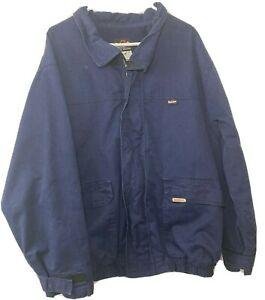 BULWARK WESTEX FIRE FLAME RESISTANT Mens Size XL Blue Work Jacket Denim Full Zip