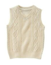 GYMBOREE BEST IN BLUE BEIGE CABLE SWEATER VEST 4 5 6 7 8 10 12 NWT