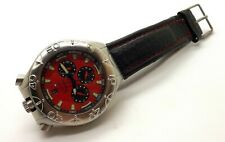 IMMERSION MAD CHRONO ITALY WRIST WATCH RED ~USED~EXCELLENT CCONDITION