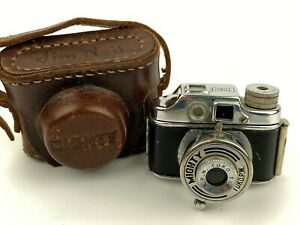 """Toko """"Mighty"""" Subminiture (HIT type) Camera with Case Made In Occupied Japan"""