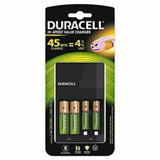 Duracell 4 Hour AA and AAA Battery Charger with 2 x AA & 2 x AAA Batteries
