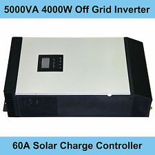 5000VA 4000W Hybrid Inverter 48V DC 220V AC MPPT 60A Solar Charge Controller