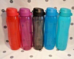 NEW Tupperware Set of 5 Round Gen II 750ml Straw Eco Water Drink Bottle