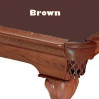 Proline 8' Brown Oversize Classic 303 Billiard / Pool Table Felt Cloth
